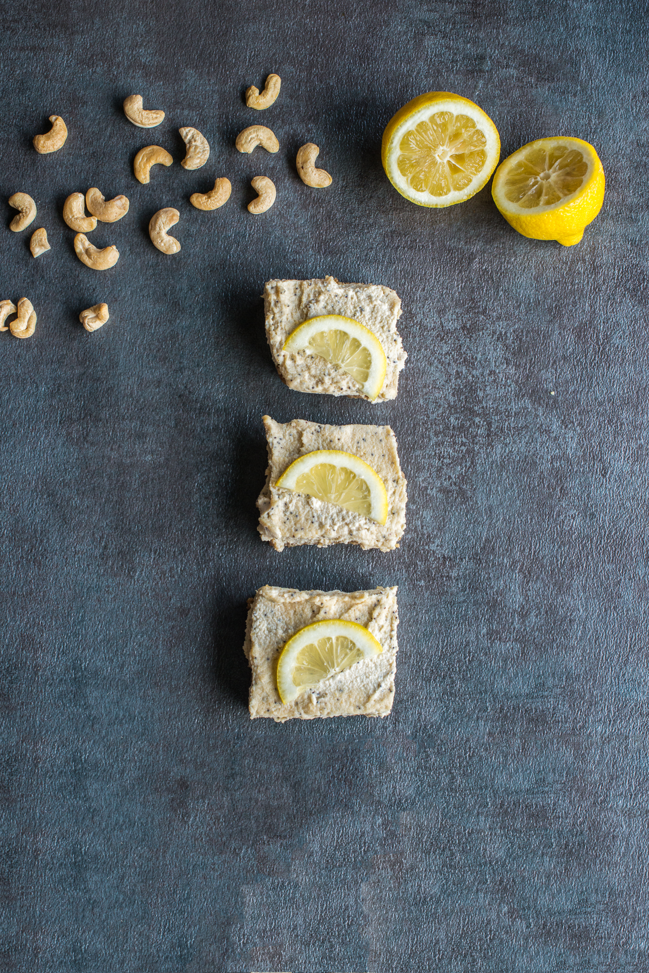 Lemon Poppy Seed Cashew Bars (Gluten Free, Dairy Free, Raw, Vegan)