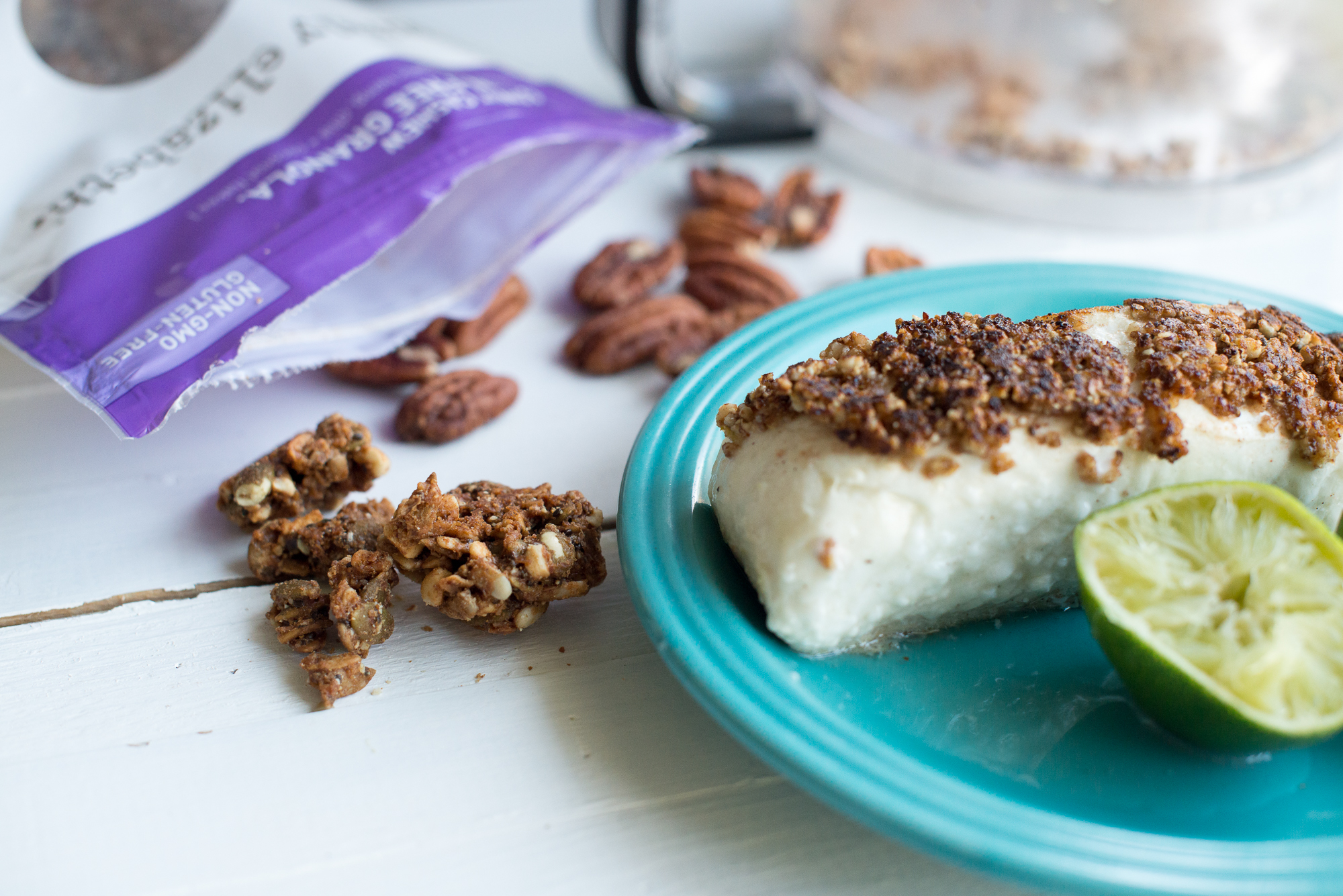 Coconut Cashew Granola-Crusted Halibut (Gluten Free, Dairy Free, Grain Free)