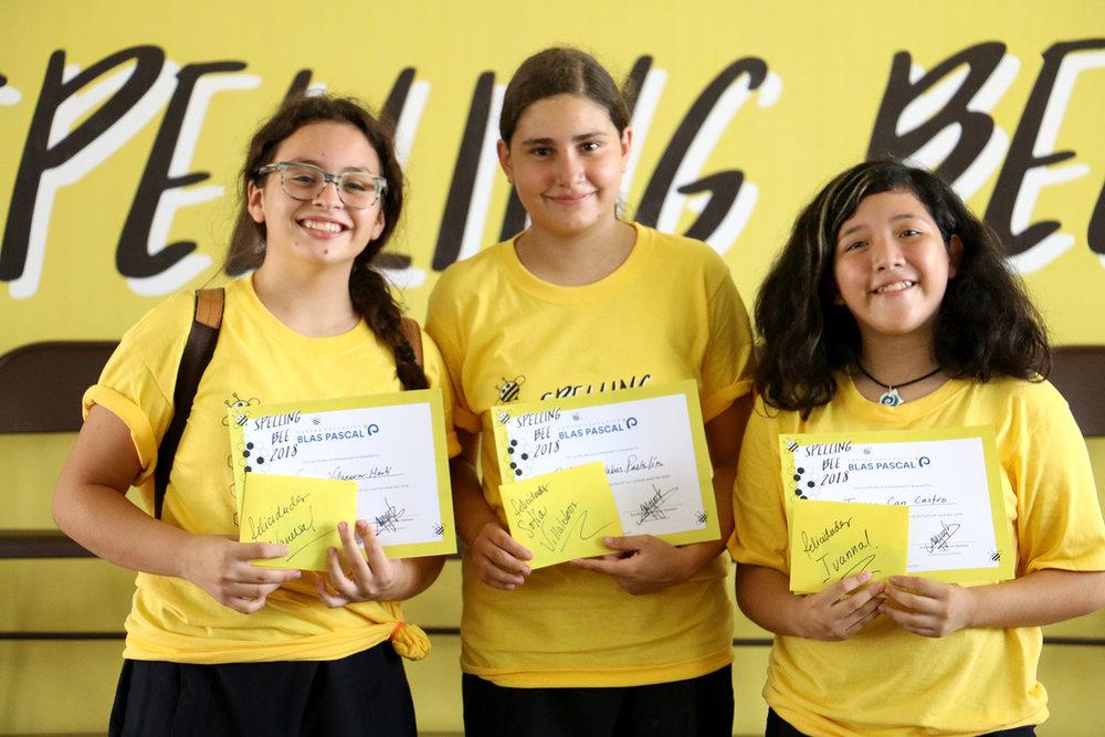 ganadoras spelling bee secundaria