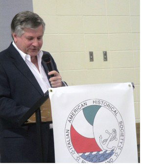 News anchor, Frank Colletta, speaker at St. Joseph's Day event