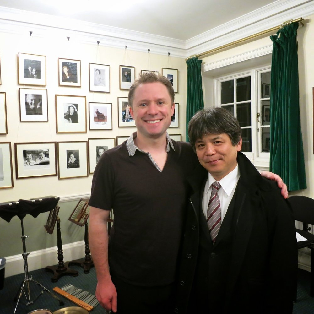 Copy of With Toshio Hosokawa at London's Wigmore Hall following my solo recital debut there.