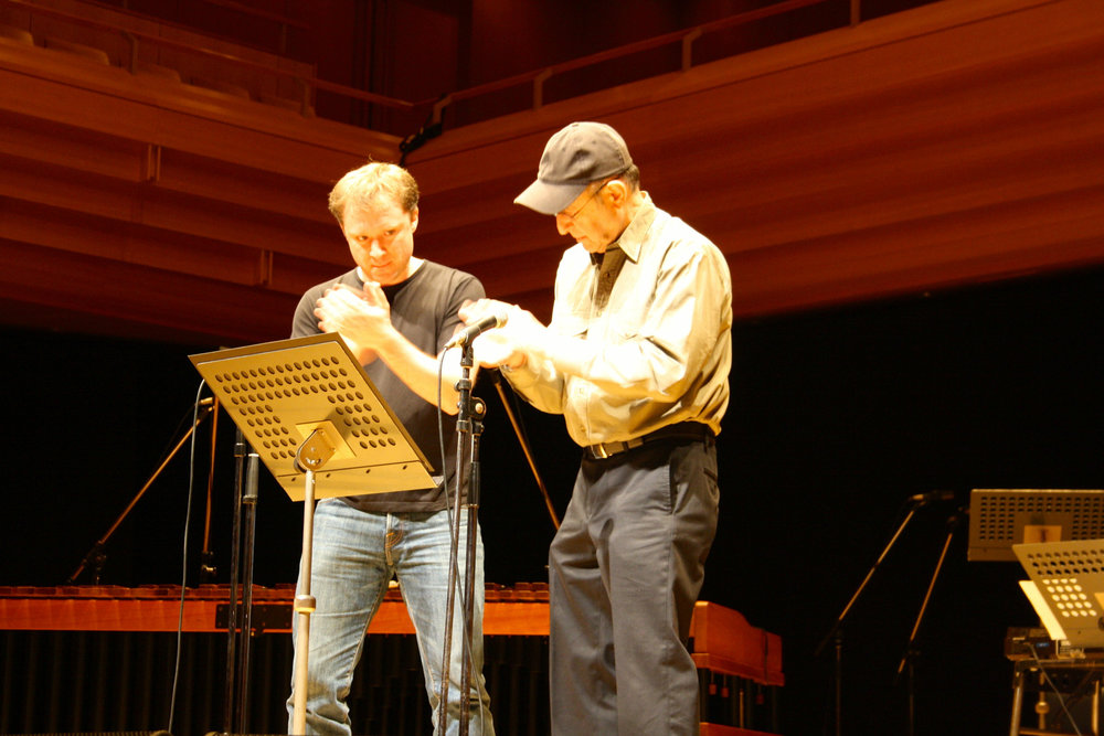 Copy of WIth Steve Reich in Tokyo, December 2012.