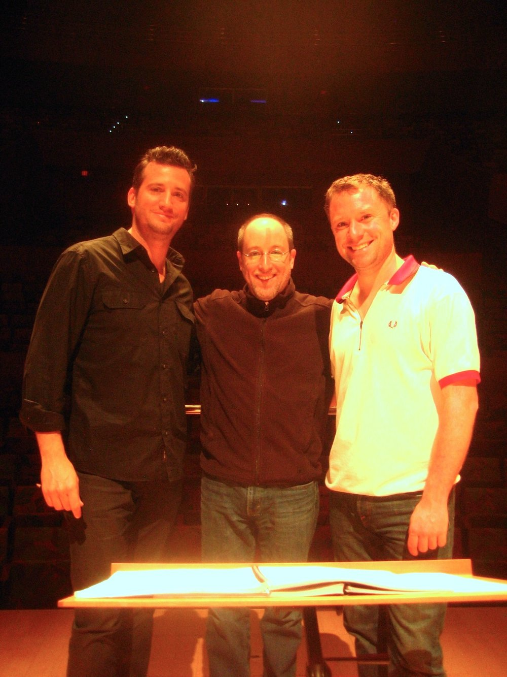 With Joe Pereira and Jeff Milarsky at the premiere of Joe's concerto in Los Angeles, May 2012.