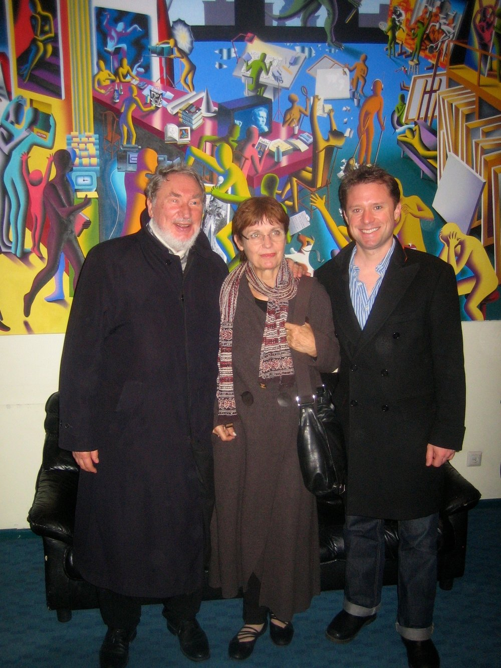With Mr and Mrs HK Gruber in Estonia in October 2011. Wonderrrrrrful!