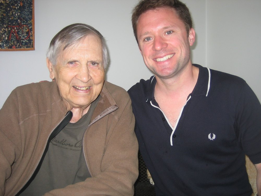 With Einojuhani Rautavaara in Helsinki in May 2009, a few months prior to the premiere of 'Incantations'