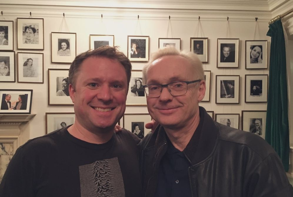 With Rolf Wallin after a performance of 'Realismos mágicos' at the Wigmore Hall