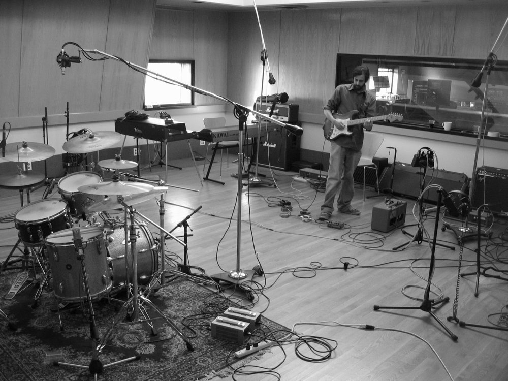 Ronnie tracking at Engine Studios,  East of the Fault Line