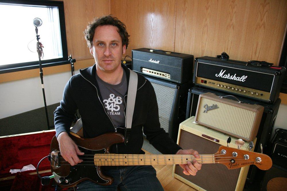 Mike Simons recording  Arrows  at Engine Studios