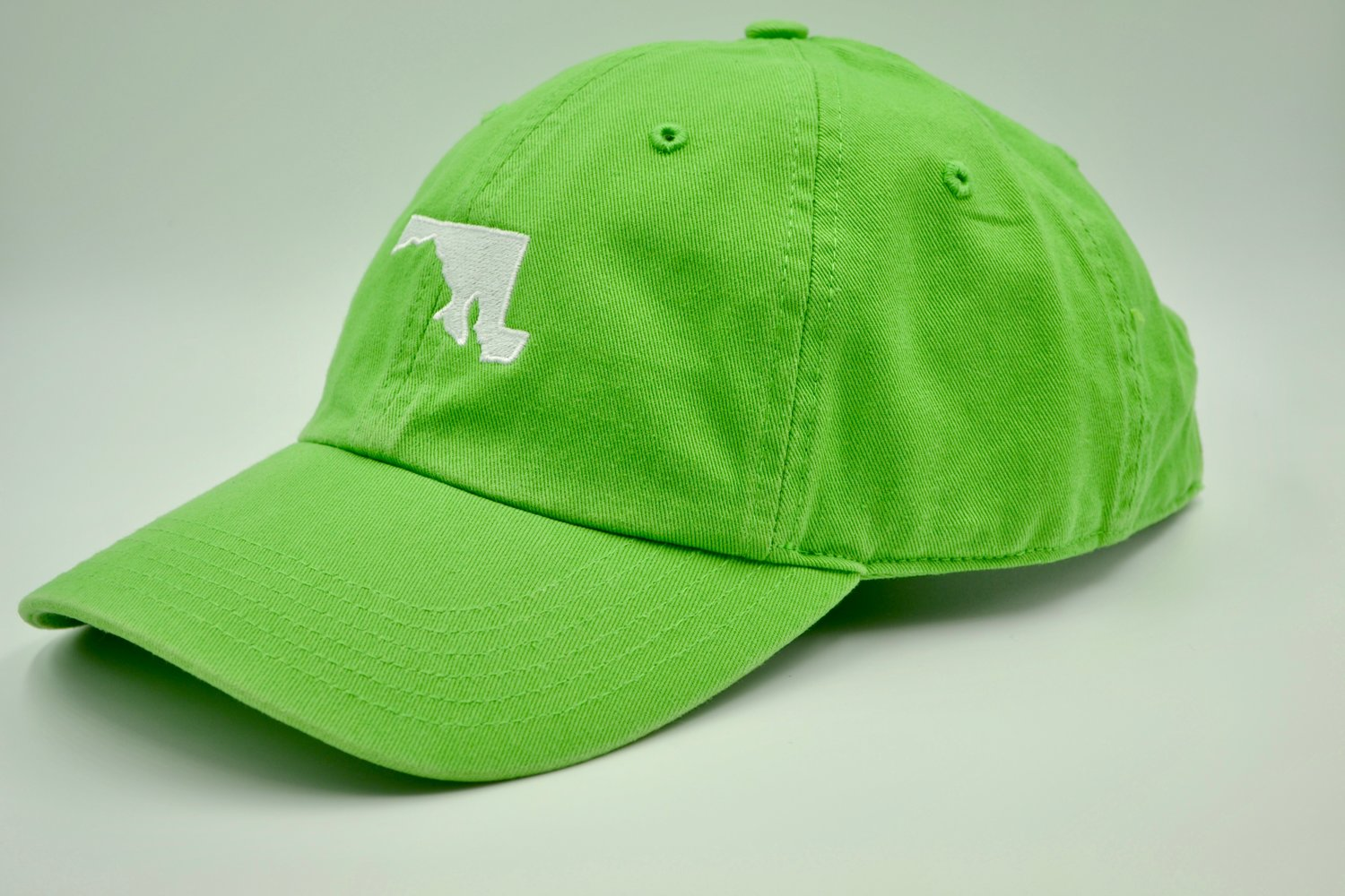 2e9bf61092b Maryland State Embroidered Dad Hat Lime — MARYLANDHATS.COM