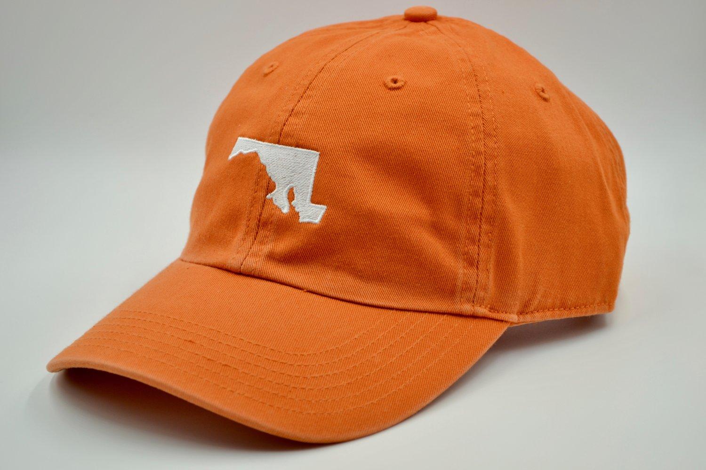 3cfd3f8d06f Maryland State Embroidered Dad Hat Orange — MARYLANDHATS.COM