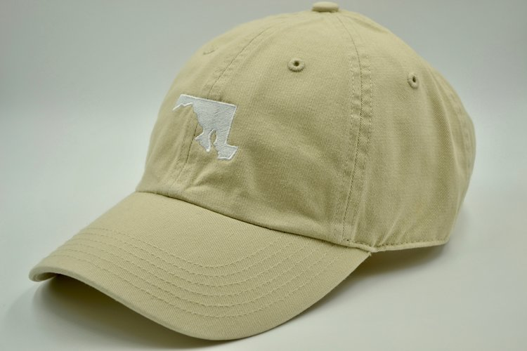 3c4ff0953ac Maryland State Embroidered Dad Hat Khaki