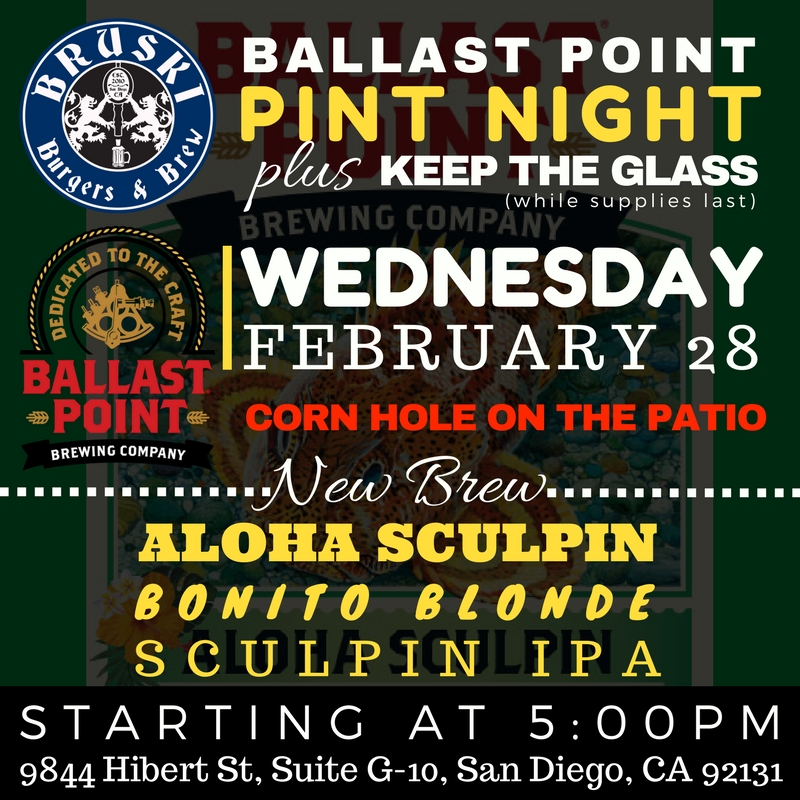 Bruski Burgers & Brew Ballast Point Pint Night 2-28-18.jpg