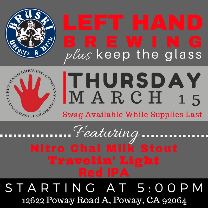 Bruski Burgers & Brew Left Hand Brewing Pint Night 3-15-18.jpg