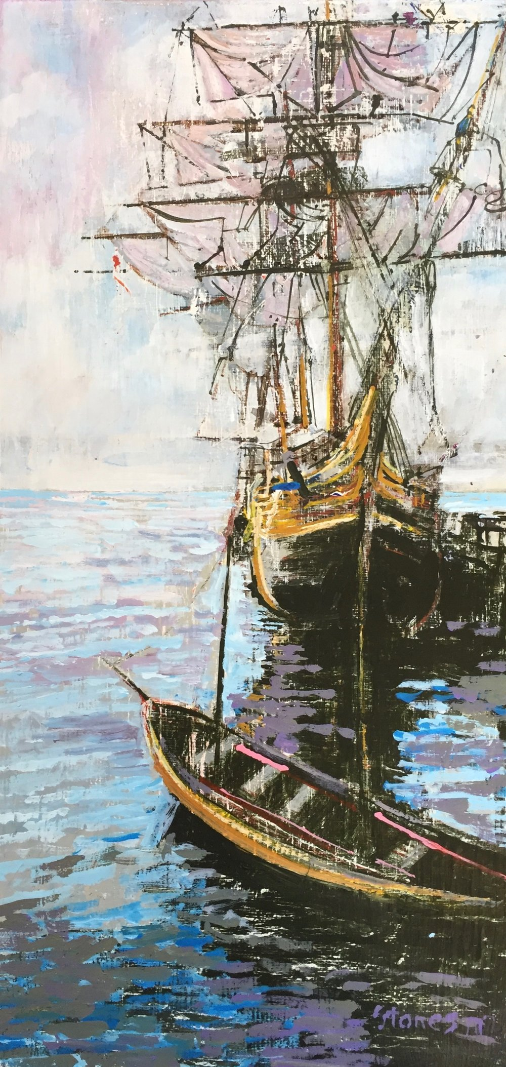 HMS Bounty  - Acrylic on Canvas