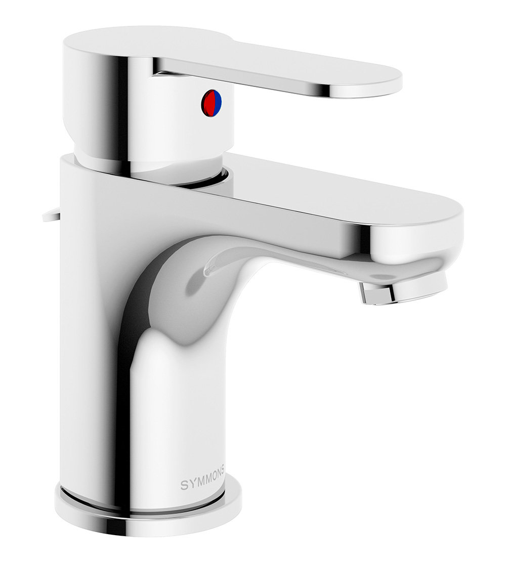 Symmons Identity Single Handle Lavatory Faucet     $99.00   · Single hole mount  · Ceramic cartridge  · Braided hose connections  · 50/50 pop-up drain assembly  · 1.5 gpm (5.7 L/min) standard