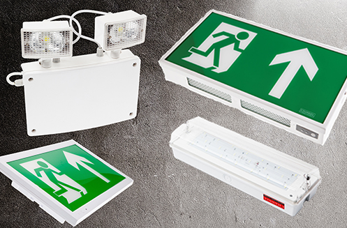 Emergency lighting and exit signs are readily available to meet contractor's fast track needs for commercial applications.