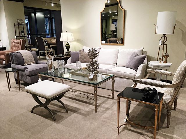 Happy Weekend! Here's a sneak peek of a few more new @chaddockhome pieces that just arrived! Come on in next week and check them out 🛋