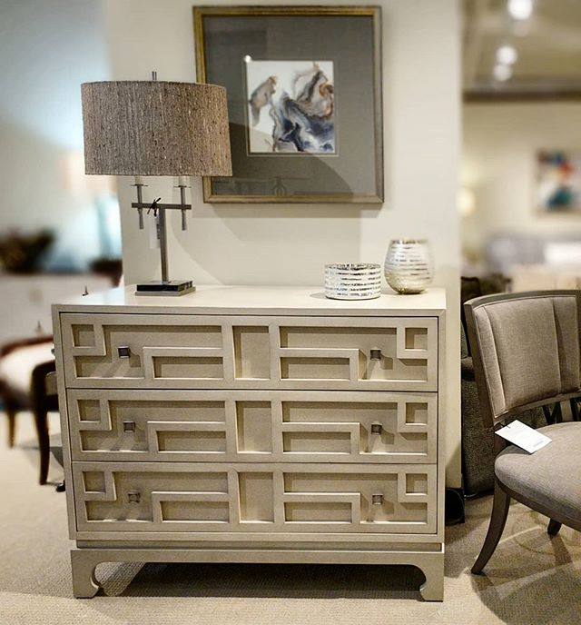 Some rooms just need that simple piece, simple yet elegant. # Century Furniture, Macua Drawer #chest. . . #Interiors, #interiordesign, #design,  #Inspiration.
