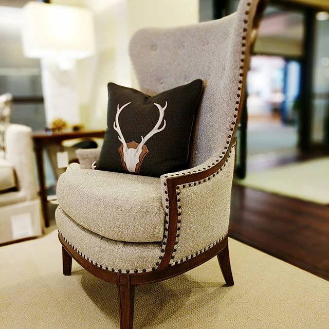 A simple wing with character. Dianne Wing Chair #centuryfurniture #designinspiration #Interiors #tothetrade