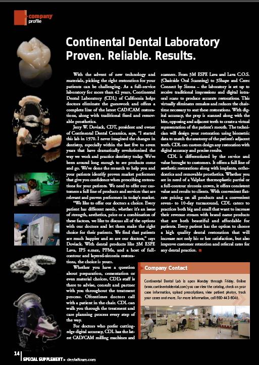 Featured in Dental Town Magazine