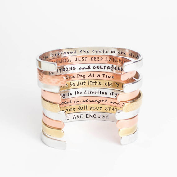 Inspirational bracelets- $20 - Fun gift for all your gals to remind them how awesome they are!