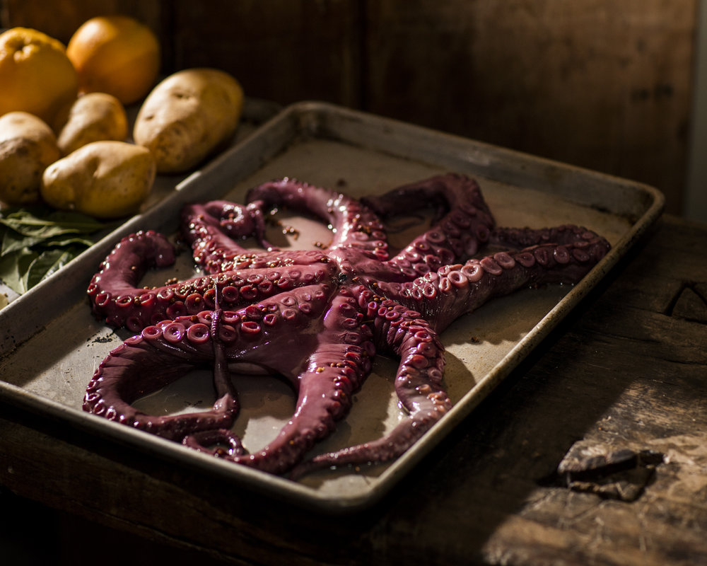 The Kraken - Whole Octopus Being Prepared     Photo Download