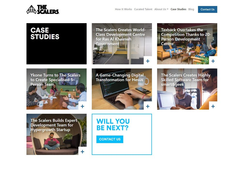 The Scalers - business case studies