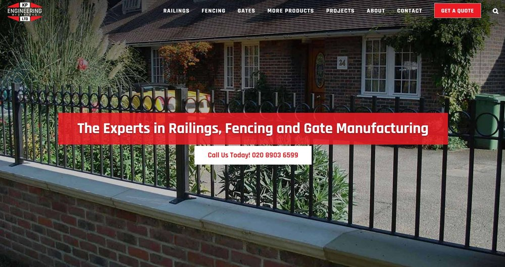 KP Engineering - specialist railings and gate manufacturer