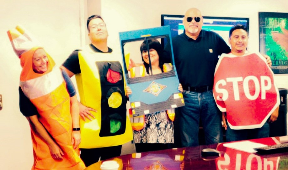 Apparently, when a manager dresses as a stop sign, operators listen.