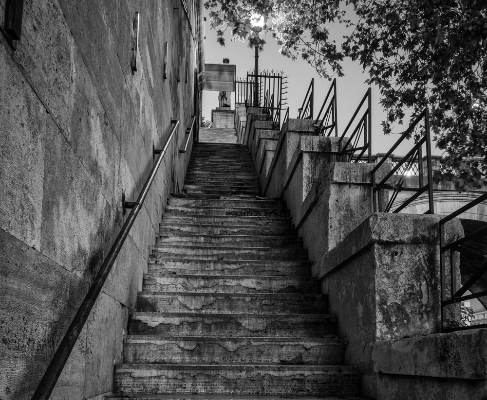 Steps Beside the Tiber