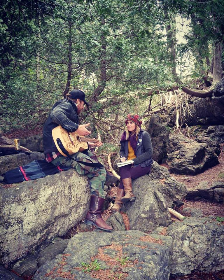 HUNTED & HUNTER - Writing session with Matt Epp in Owen Sound, ON.