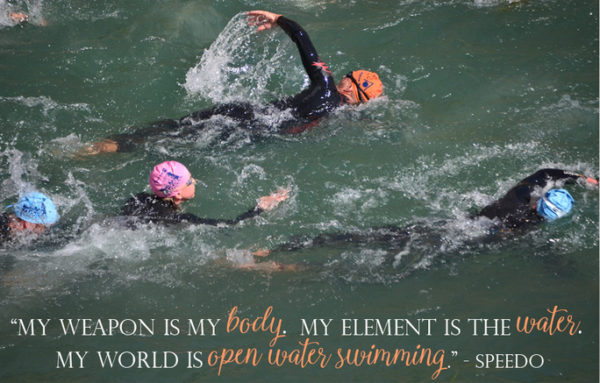 Open water swimming quote