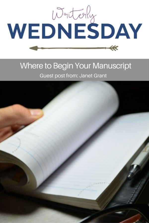 Where to Begin Your Manuscript