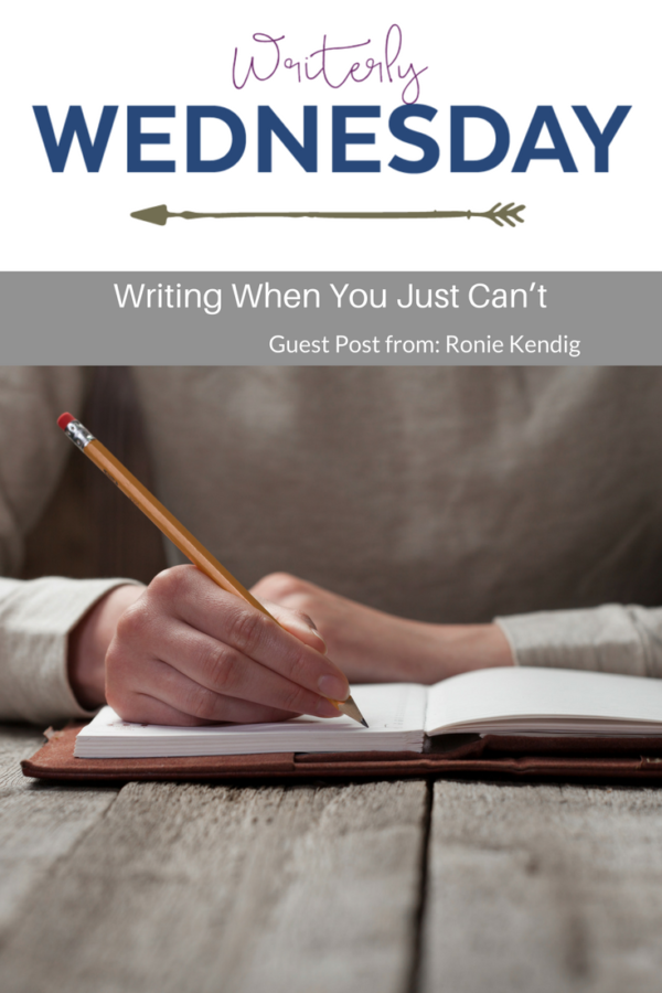 Writing when you just can't