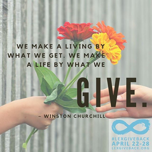 """We make a living by what we get. We make a life by what we give."" ~ Winston Churchill #MotivationMonday #LEXGIVEBACK #sharethelex"