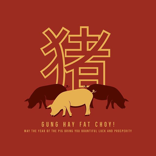 Happy Chinese New Year! May this year bring love, health, luck and prosperity 🐷