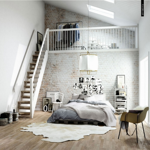 scandinavian design bedding loft