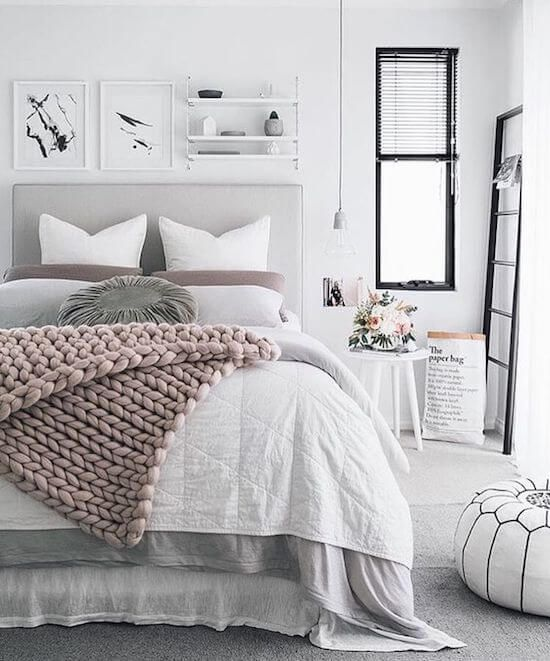 scandinavian design bedding chunky throw