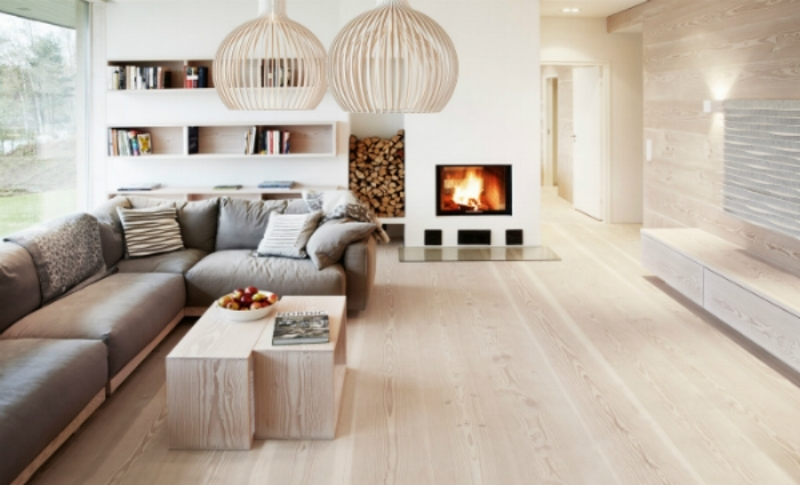scandinavian design open living room