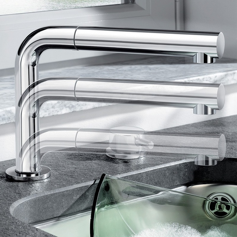 the blanco periscope-sf-ii, a retractable faucet with a pull-out sprayer. anything else?