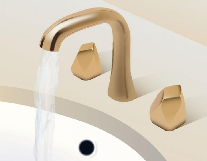 "waterworks isla matte gold 8"" widespread geode handles faucet - the ultimate guide to luxury plumbing by the delight of design"