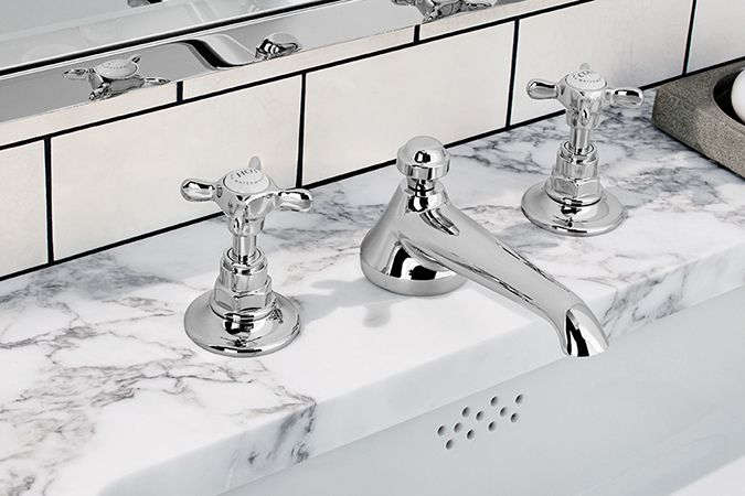 "waterworks polished chrome 8"" widespread traditional cross handle faucet with low spout - the ultimate guide to luxury plumbing by the delight of design"