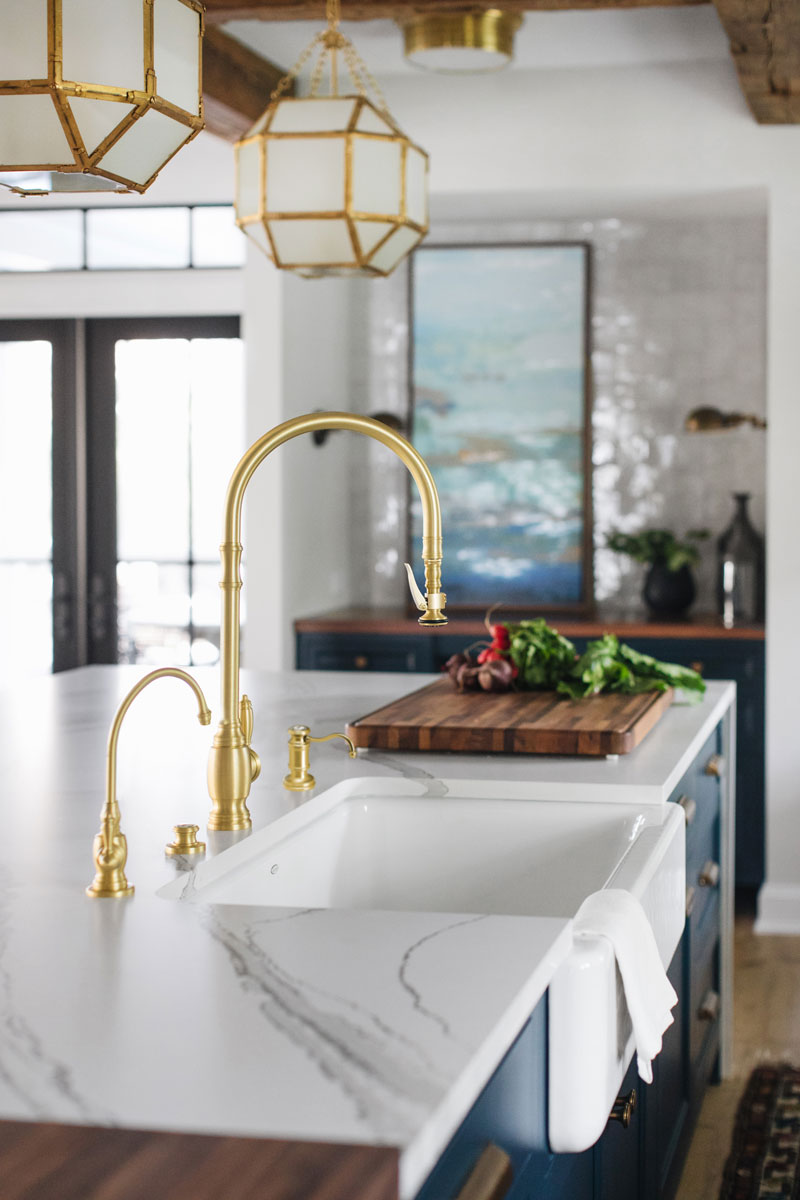 waterstone usa plp faucet suite with drinking faucet and soap dispenser in brushed gold - the ultimate guide to luxury plumbing by the delight of design