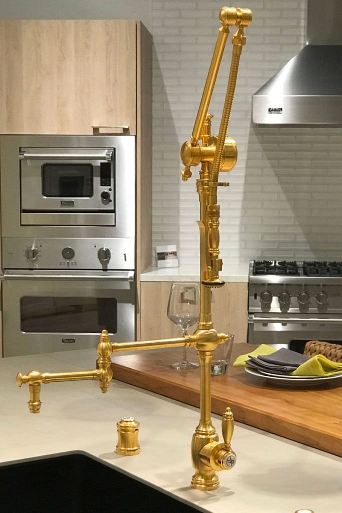 waterstone usa industrial plp faucet with swingout arm in satin gold - the ultimate guide to luxury plumbing by the delight of design