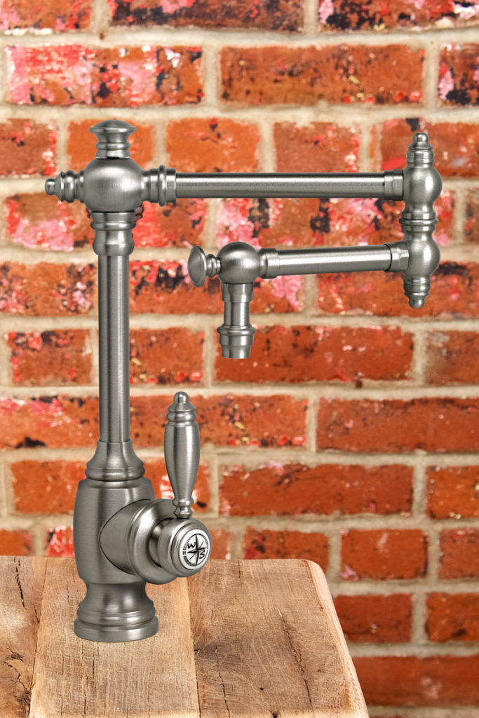 waterstone usa swing arm kitchen faucet in brushed nickel - the ultimate guide to luxury plumbing by the delight of design