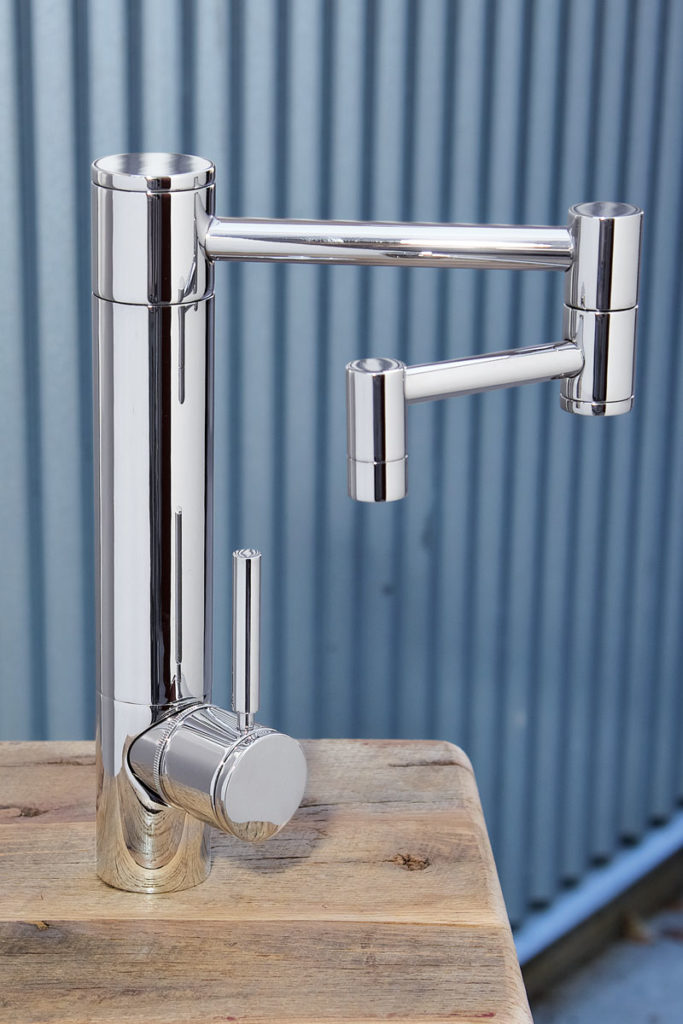 waterstone usa kitchen faucet in polished chrome with swing out arm - the ultimate guide to luxury plumbing by the delight of design