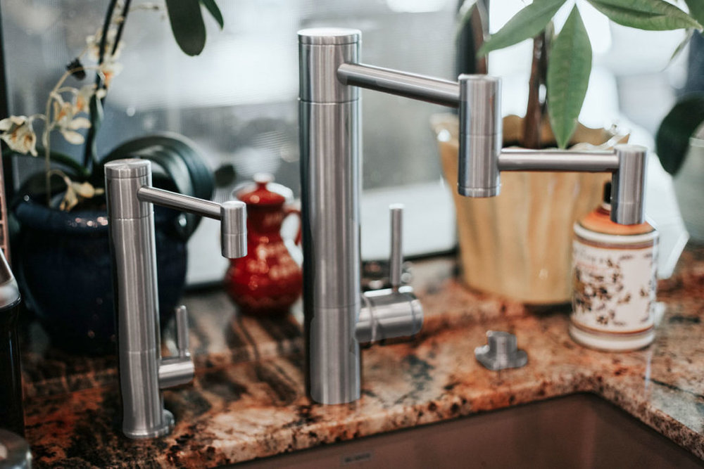 waterstone usa contemporary faucet suite with swing out arm in polished chrome - the ultimate guide to luxury plumbing by the delight of design
