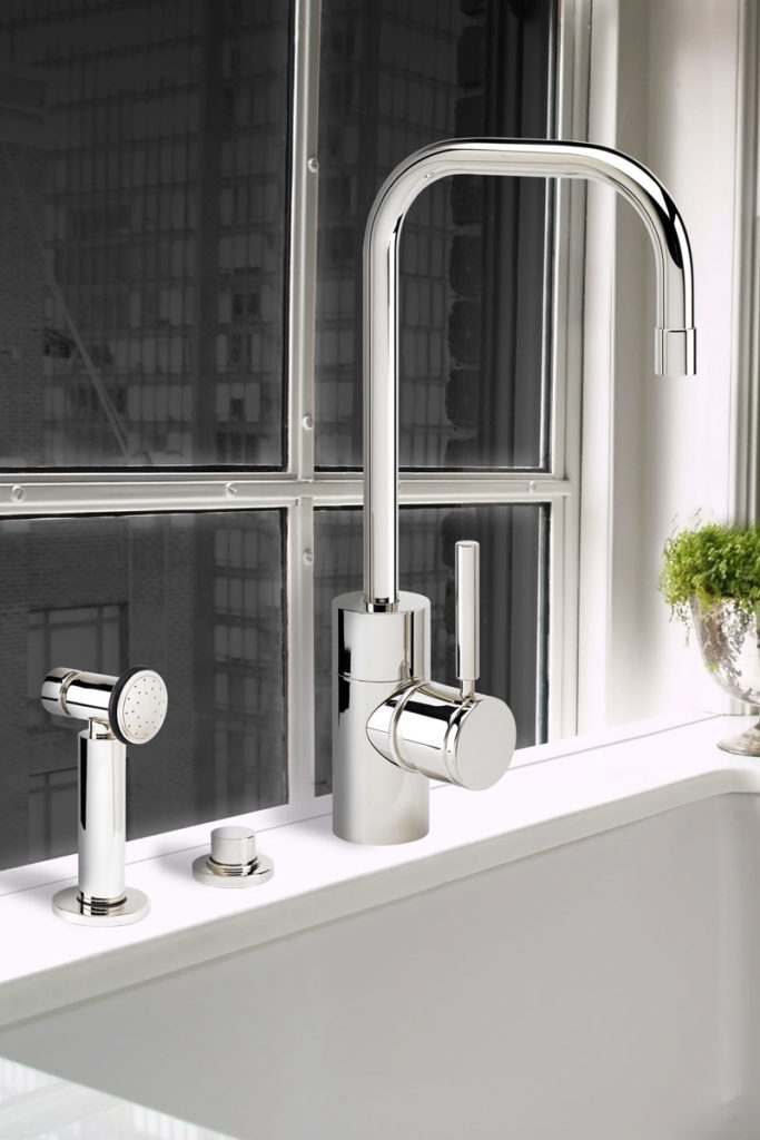 waterstone usa contemporary faucet with sidespray in polished chrome - the ultimate guide to luxury plumbing by the delight of design