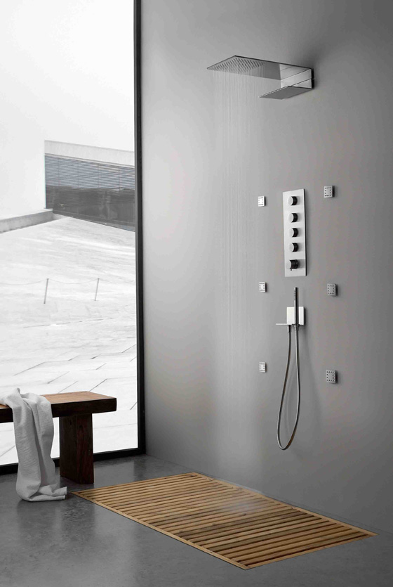 treemme contemporary shower trim with rainhead bodysprays and handshowers in polished chrome - the ultimate guide to luxury plumbing by the delight of design