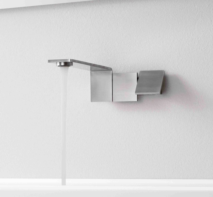 treemme contemporary minimalist wall mount tub filler with lever handles in brushed nickel - the ultimate guide to luxury plumbing by the delight of design